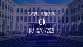 Conseil d'Administration du 18/01/2021