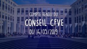 Conseil CFVE du 14.05.2019