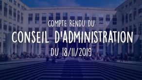 Conseil d'Administration du 18/11/2019