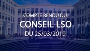Conseil LSO du 25.03.2019