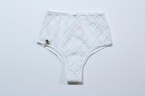 Trellis lace high waist brazilian panty