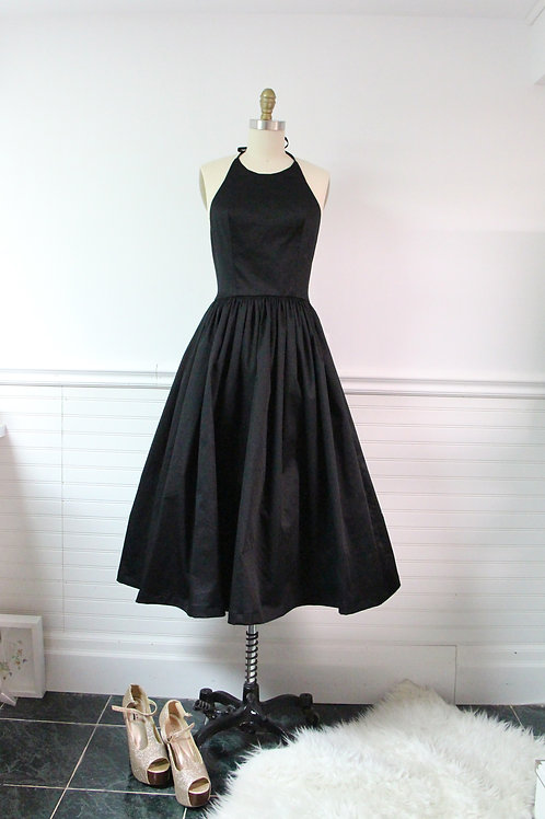 Audrey Black Halter Dress