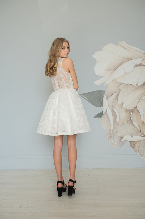 Organza Lace Cocktail Dress