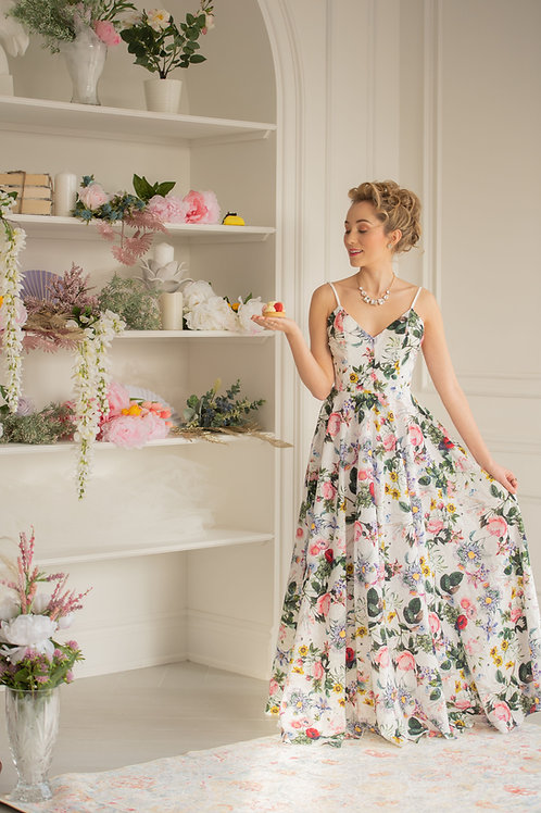 Petit Trianon Floral Gown