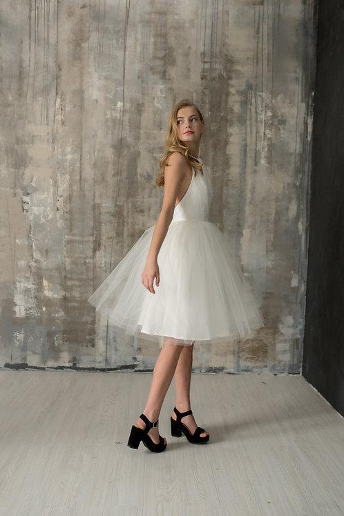 Lace Halter Cocktail Dress