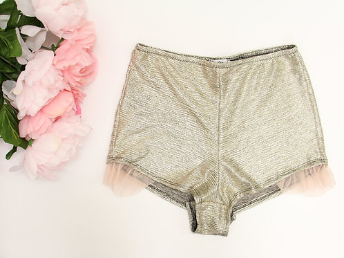 Glitter and Blush Ruffle Shorts