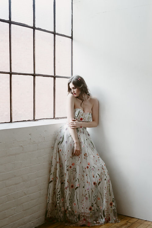Amalthea Embroidered Gown