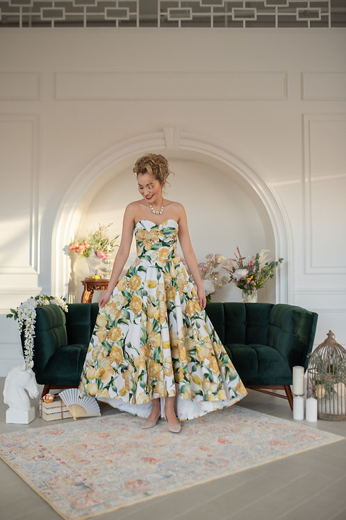Grand Trianon Floral Gown