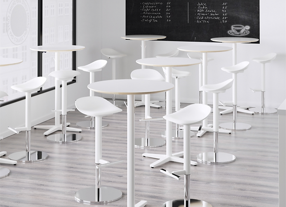 White Round  High Top Table