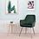 Thumbnail: Green Velvet Side Chair