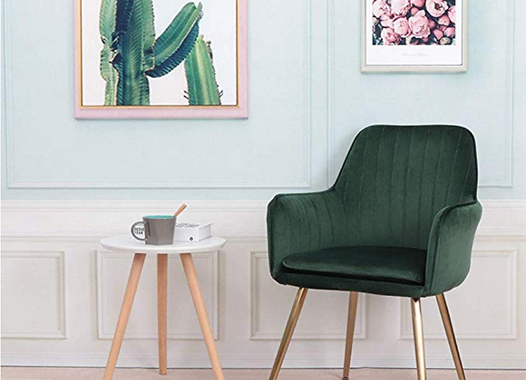 Green Velvet Side Chair