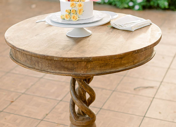 "30"" Round Light Wood Table"