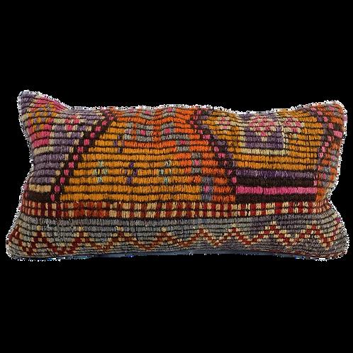Multicolored Kilim Pillow 12x24