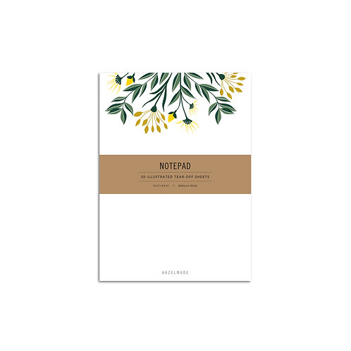 Asters Floral Notepad
