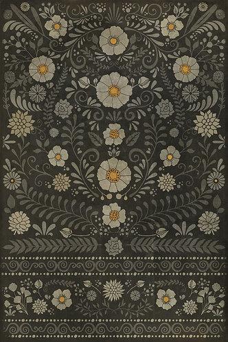 Vintage Vinyl Floorcloth - Pattern 36 - Je regrete rien - 20x30