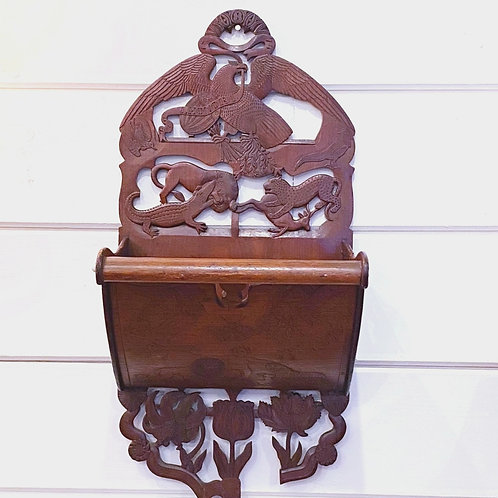 Antique Carved Hymnal Wall Holder