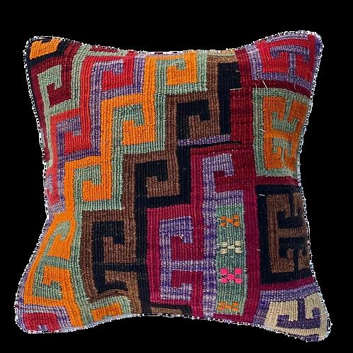 Kilim Pillow Geometric 16x16