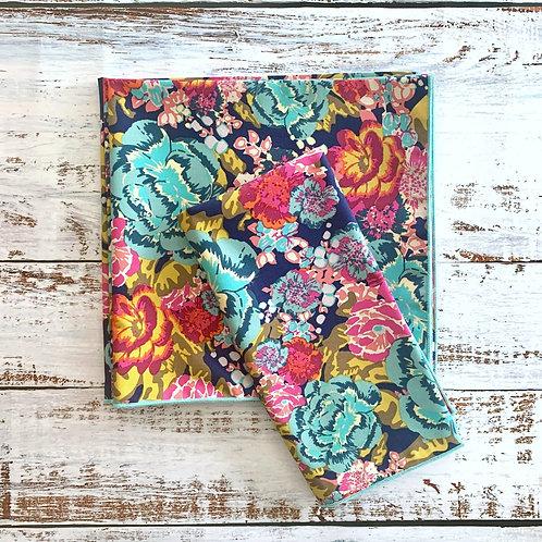 Midnight Floral Cotton Napkin Set/4