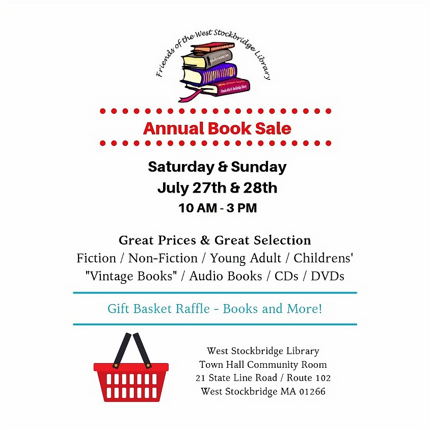 Annual Book SALE - Friends of the West Stockbridge Library