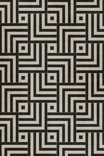 Vintage Vinyl Floorcloth - Pattern 60 - Inversion - 20x30