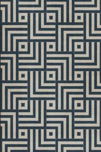 Vintage Vinyl Floorcloth - Pattern 60 Aftereffect - 20x30