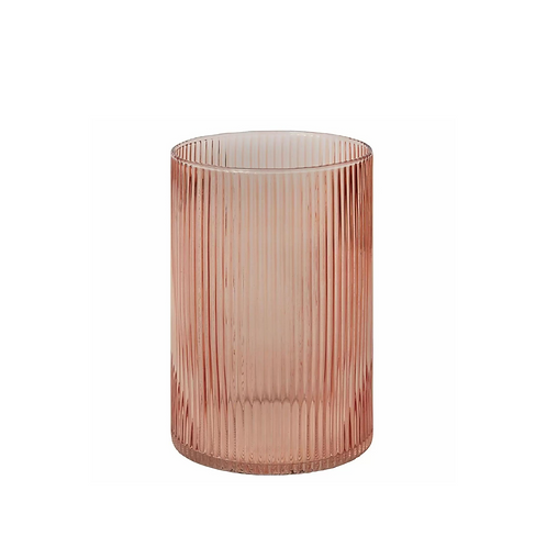Bellini Blush Glass Vase + Hurricane