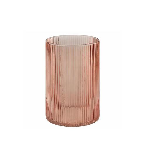 Bellini Blush Glass Vase + Hurricane