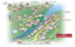 Map of West Stockbridge Merchants