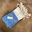 Thumbnail: Turkish Hand Towel Light Blue Diamond Set/2