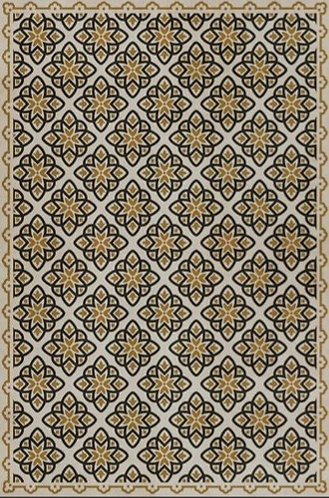 Vintage Vinyl Floorcloth - Pattern 45 Auratus - 20x30