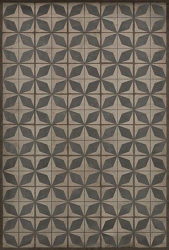 Vintage Vinyl Floorcloth - Pattern 54 Galactic - 38x56