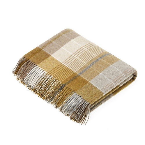 Lambswool Throw Florence Plaid Bronte