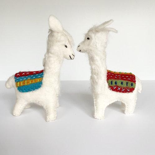 Felted Wool Llama