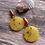 Thumbnail: Lemon Tortoise Acrylic Drop Earrings