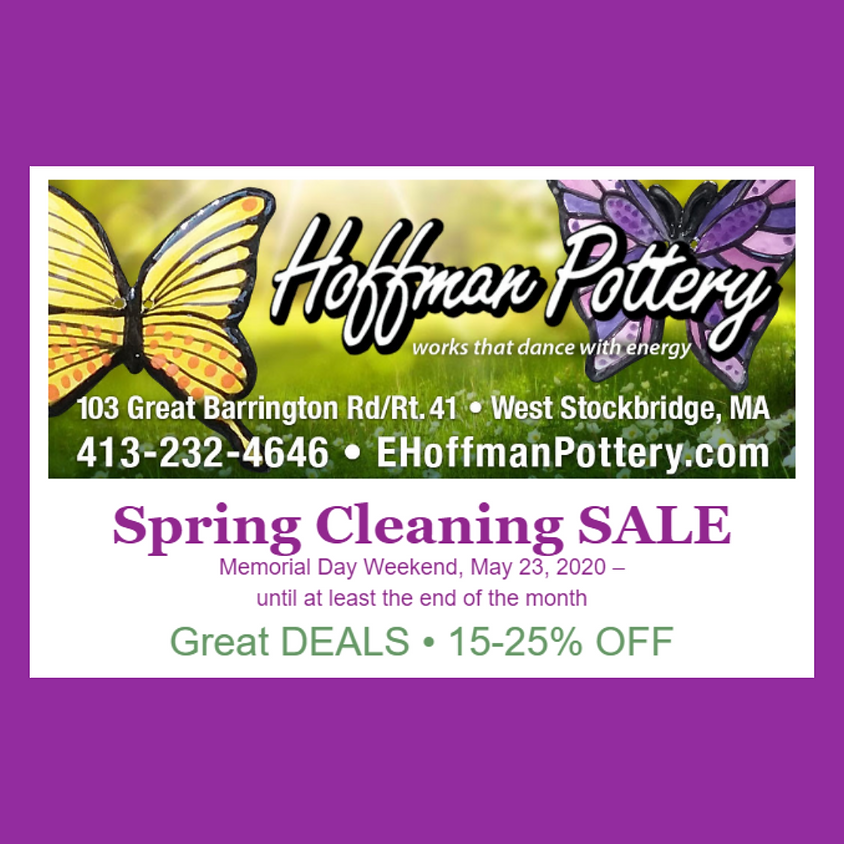 Spring Cleaning Sale at Hoffman Pottery