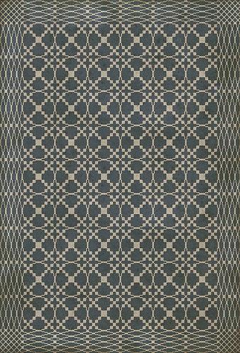 Vintage Vinyl Floorcloth - Williamsburg Woven Albemarle - 38x56