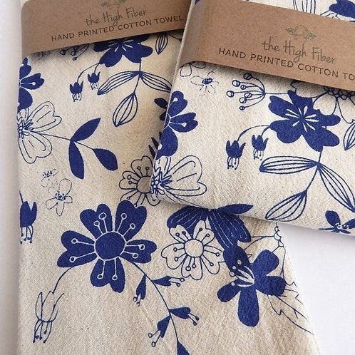 Vintage Floral Tea Towel