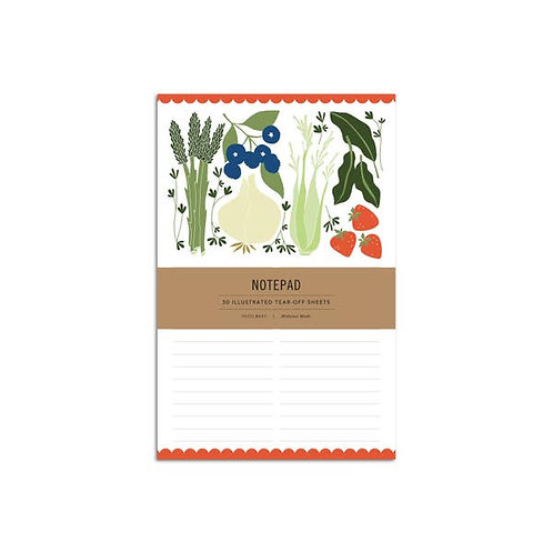 Fruits and Vegetables Notepad