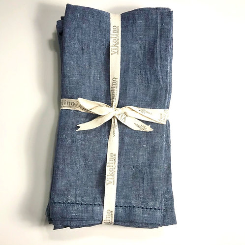 Linen Napkin Set/4 - Chambray Denim