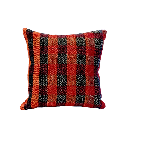 Plaid Brights Kilim Pillow 16x16