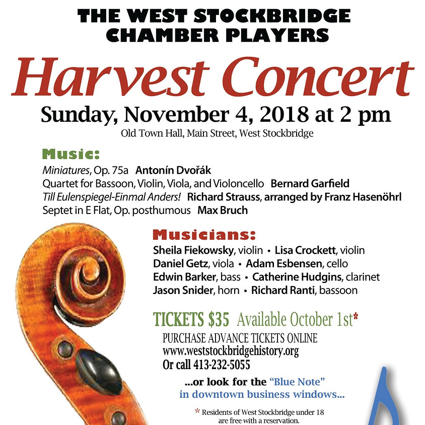 West Stockbridge Chamber Players Harvest Concert