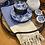Thumbnail: Herringbone Turkish Hand Towel Cobalt