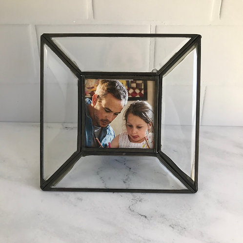 Beveled Glass Photo Frame