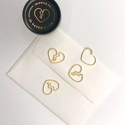 Broken Heart Paper Clips