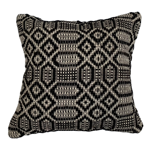 Black + White Kilim Pillow 16x16