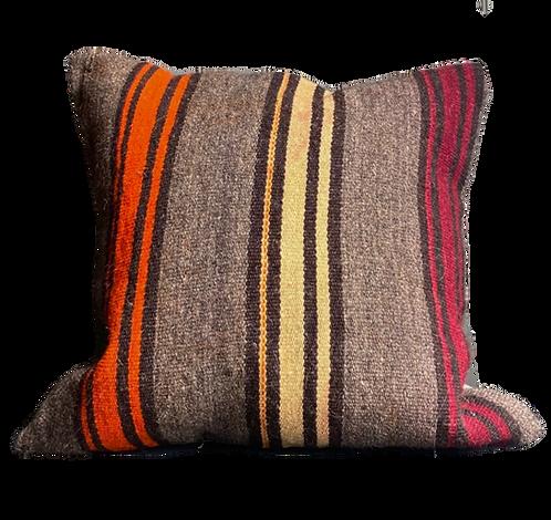 Brown Stripe Kilim Pillow 20x20