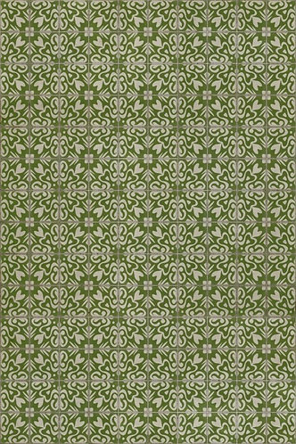 Vintage Vinyl Floorcloth 56 Isabella Thorpe - 20x30