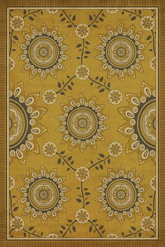 Vintage Vinyl Floorcloth - Pattern 44 Holein - 20x30