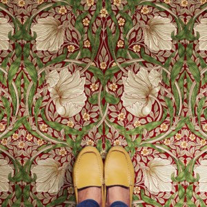 Vintage Vinyl Floorcloth - Morris & Co Collection