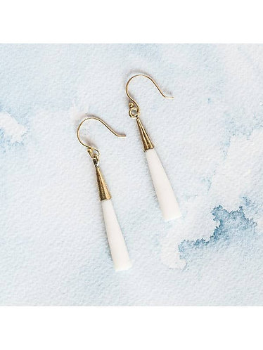 Recycled Brass & Bone Earrings